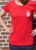 Tee-shirt rouge pour femme de la marque du moulin